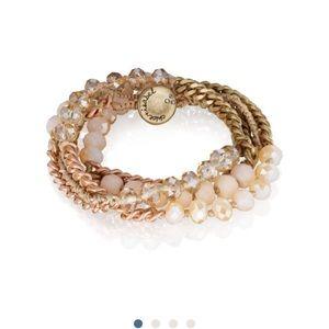 Chloe + Isabel bead and chain multi wrap bracelet